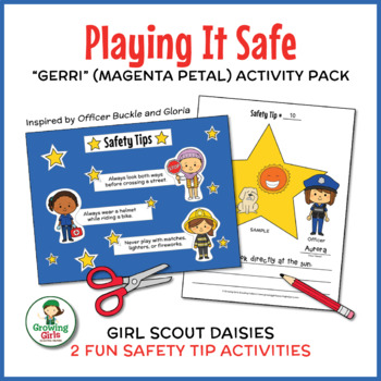 "Playing It Safe - Girl Scout Daisies - ""Gerri - Magenta Pe"