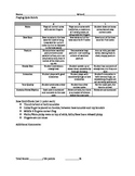 Playing Quiz Rubric-26 Points
