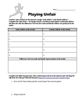Playing Unfair: Female Athletes in the Media