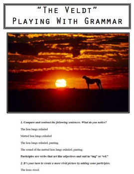 """""""The Veldt"""" Playing With Grammar"""