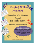 Playing With Numbers-Properties of a Number Project for Middle School