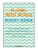 Playing With Words - Poetry - Grades 2, 3, 4
