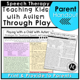 Playing With a Child With Autism: Promoting Speech and Language Development