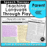 Speech Parent Handouts for Late Talkers Distance Learning
