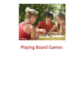 Playing a Board Game Social Story for Teens