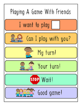 Playing a Game with Friends Visual Aid