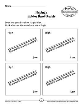 Playing a Rubber Band Ukulele (Position and Motion of Objects)
