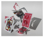 Playing card slotted sculpture Level 2,3