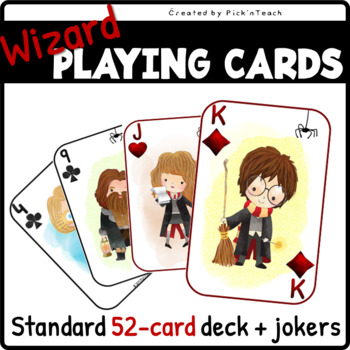 Playing cards for wizards and HARRY POTTER fans