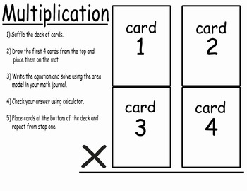 Playing cards multiplication center