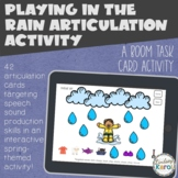 Playing in the Rain Articulation BOOM CARD Activity
