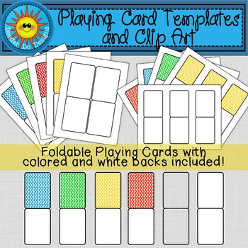 Playing or Flash Card Templates and Clip Art