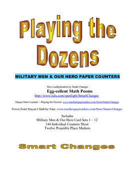 Playing the Dozen Military Men & Our Hero Paper Counters for Time Tables