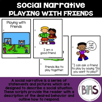 Playing with Friends Visual Social Narrative | Social Story | Social Script