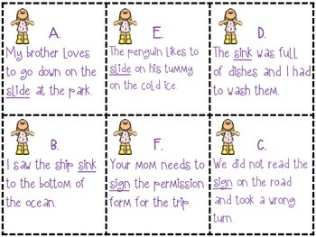 Playing with Multiple-Meaning Words