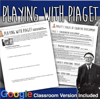 Playing with Piaget Activity - Piaget's Four Stages of Cognitive Development