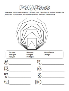 Playing with Polygons Worksheets