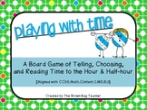 Playing with Time: Telling Time to the Hour & Half-Hour [CCSS-Aligned]