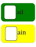 """Playing with Word Families """"ab"""" """"ack"""" """"ad"""" """"ag"""" """"ail"""" """"ain"""""""