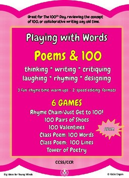 Writing Poems to Celebrate 100 (a Playing with Words unit)