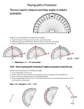 Playing with a Protractor