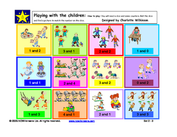 Playing with the Children an early addition game