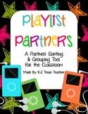 Playlist Partners: A Rockin' Classroom Grouping & Sorting Tool