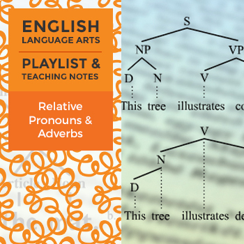 Relative Pronouns & Adverbs - Playlist and Teaching Notes