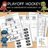 Playoff Hockey: PreK & Kindergarten Worksheet Set