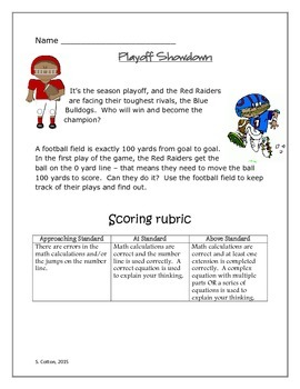 Playoff Showdown - a football math task for young mathematicians