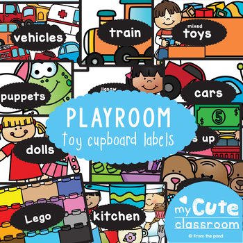 Playroom Toy Cupboard Box Labels