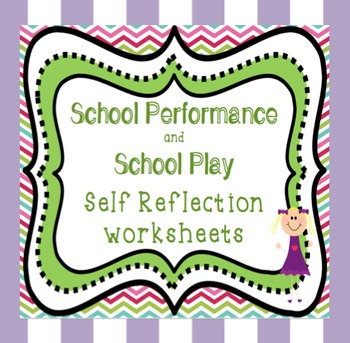 Plays and Performances  - Reflection Sheets