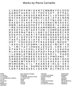 Plays by Pierre Corneille Wordsearch Puzzle Worksheet