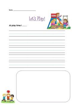 Playtime Paragraph Starter