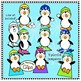 Playtime Penguins - Clip Art Collection