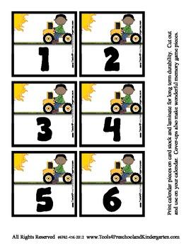 Playtime fun Calendar Memory Game Pieces - 3 coordinating