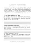 Playwright Planning Sheet