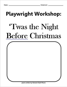 Playwright Workshop: Twas the Night Before Christmas Cover Page ONLY