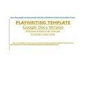 Playwriting Template - Google Docs Version - Professional Manuscript Standard