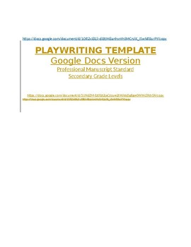 playwriting template google docs version professional manuscript