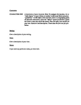 playwriting template microsoft word 97 2003 by that s some serious