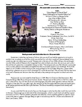 Pleasantville Film (1998) Study Guide Movie Packet