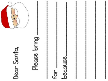 A Santa Letter Writing Activity. Please bring ______ for ________.