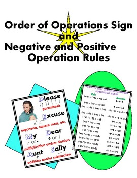 Please Excuse My Dear Aunt Sally & Positive & Negative Numbers