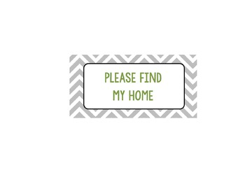 Please Find My Home Sign