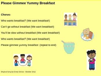 Healthy Breakfast Song (and activities)