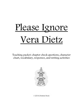 Please Ignore Vera Dietz teaching packet