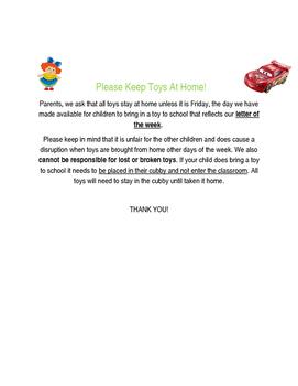 Please Keep Toys At Home (Editable)