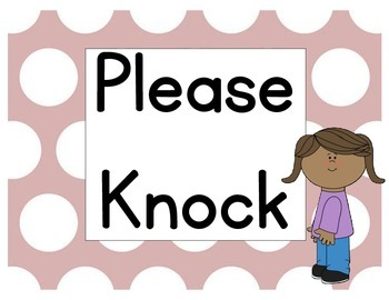 photograph relating to Please Knock Sign Printable identified as You should Knock Lavatory or Area Indicator