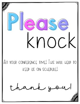 Please Knock Conference Sign